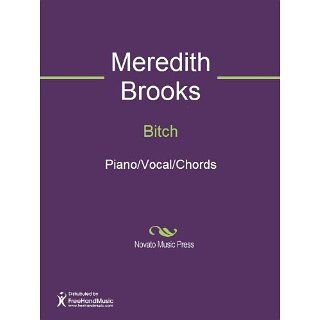 Bitch Sheet Music Meredith Brooks, Shelly Peiken Kindle