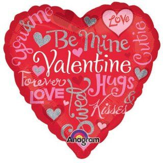 Be Mine Valentine Love Heart 18 Mylar Balloon Health