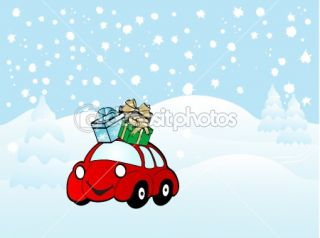 Cartoon car  Stock Vector © Sarka Pistekova #2421340