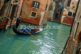 Gondola ride in Venice, Italy  Stock Photo © tanjakrstevska #2431196