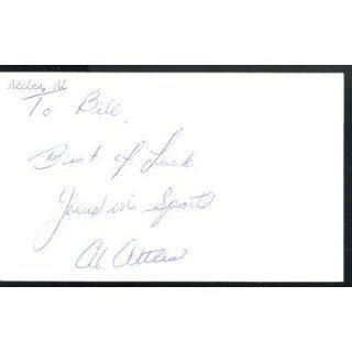 Al Attles Warriors Signed 3x5 Index Card Auto PSA COA