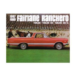1967 FORD FAIRLANE RANCHERO Sales Brochure Book