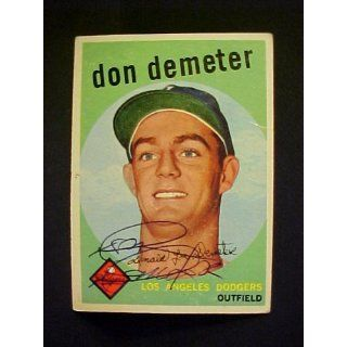 Don Demeter Los Angeles Dodgers #324 1959 Topps Autographed Baseball
