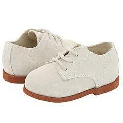 Ralph Lauren Layette Kids Morgan (Infant) White Suede Oxfords   Size 0