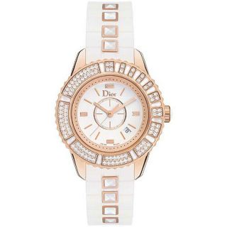 Christian Dior Christal Womens Rose Gold Diamond Watch