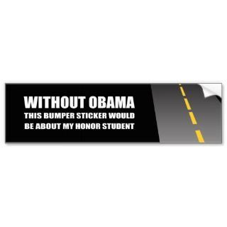 WITHOUT OBAMA BUMPER STICKER