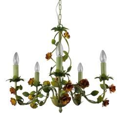 Green Leaf Candle Light Chandelier
