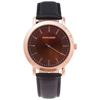 Monument Mens Rose goldtone Case Analog Watch