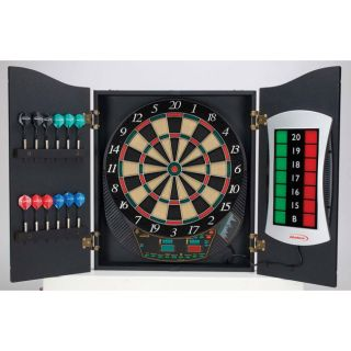 Cricketview 500 Wood Cabinet Electronic Dart Board