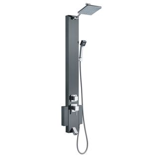 Blue Ocean 48 inch Stainless Steel Shower Panel Tower with Rainfall