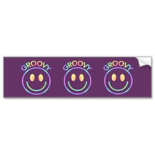 Smiley Face Groovy Bumper Sticker