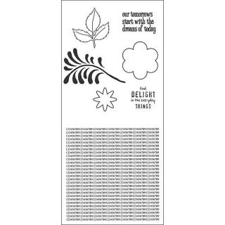 Studio 490 Dimensional Rose Art Cling Rubber Stamp Set