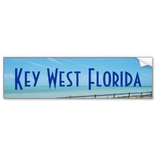 Key West Florida Aquamarine Ocean Bumper Sticker
