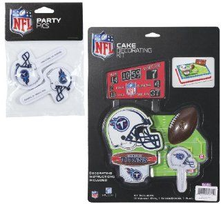 NFL Tennessee Titans Lay on Cake/Cupcake Decorations