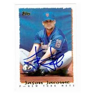 Jason Jacome autographed baseball card (New York Mets) 1995 Topps #337