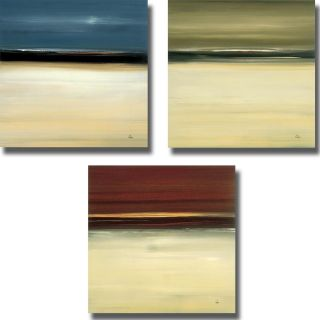Lisa Ridgers Prevalent Finding I, II, and III 3 piece Canvas Art Set