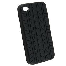 Black Tire Tread Silicone Case for Apple iPhone 4