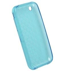 Blue Mid Diamond TPU Case/ Screen Protector for Apple iPhone 3G/ 3GS