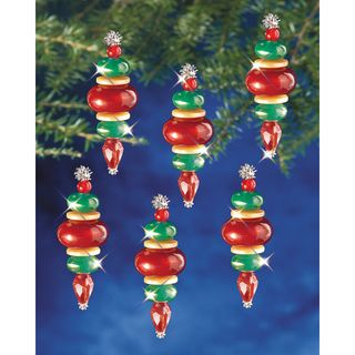 Holiday Beaded Ornament Kit Victorian Baubles 2 1/4X3/4 Makes 12