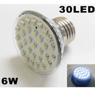 Cool White 30 SMD LED 6W High Power Spotlight Bulb