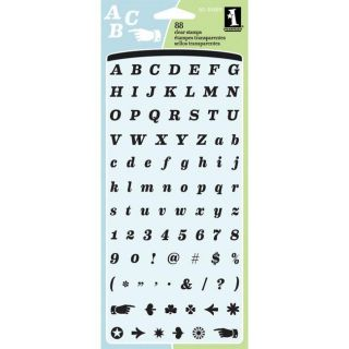Inkadinkado Everyday Alphabet Clear Stamps