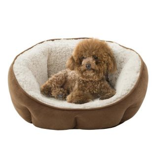 Soft Touch Tan Rhino Tufted o Cuddler Pet Bed
