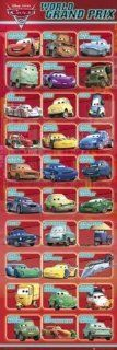 1art1 54618 Cars   2, World Grand Prix, Namen Charaktere Tür Poster
