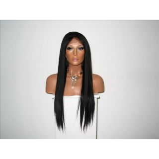 Star Flow Black Full Lace 24 inch Human Hair Wig