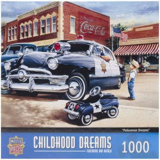 Policeman Dreams 1000 piece Jigsaw Puzzle