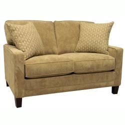 Liberty Sand Fabric Sofa Bed Sleeper and Loveseat