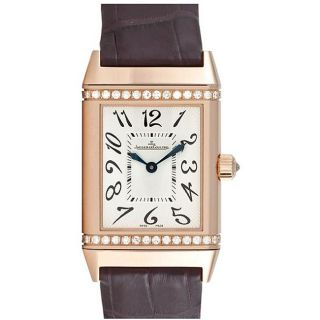 Jaeger LeCoultre Womens Reverso Gold Diamond Watch