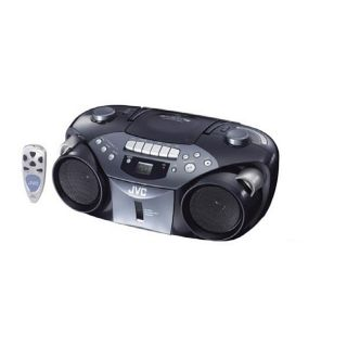 JVC RC EX16B Portable AM/FM/CD/Cassette Boombox (Refurbished