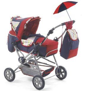 Bayer Chic 2000   562S51   Kombi Puppenwagen Road Star Linea red