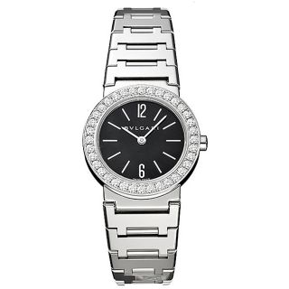 Bvlgari Womens 18k White Gold Diamond Watch