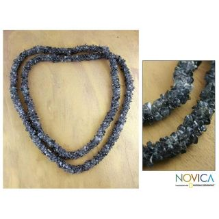 Iolite Blue Shadows Long Beaded Necklace (India)