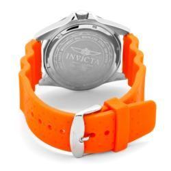 Invicta Mens Pro Diver Neon Orange Rubber Watch