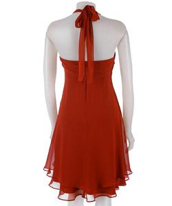 Donna Ricco Silk Fly Away Halter Dress