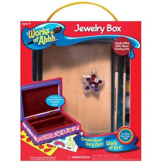Works Of Ahh Large Jewelry Box Wood Paint Kit