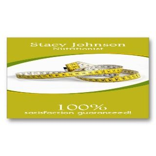 Dietist, nutritionist and weight loss profile card business card