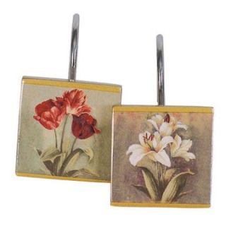 Tulip & Lily 12 Shower Hooks   Shower Curtain Hooks & Rods at
