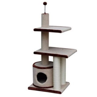 PetPal 20 x 16 x 42 in. 3 Level Cat Condo with Sisal Post & Condo