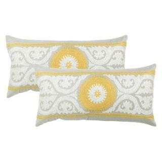 Jacque Lumbar Pillow Set   Dove   Decorative Throw Pillow Sets at