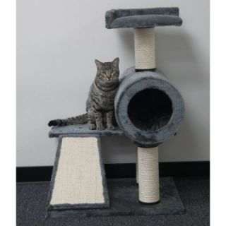 PetPal 25 x 20 x 45 in. Cat Tree with Sisal Slide Board & Post