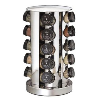 Kamenstein 20 Jar Filled Revolving Stainless Steel Spice Tower   Spice