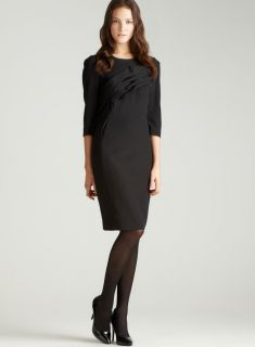 Teri Jon 3/4 Sleeve Silk Cocktail Dress