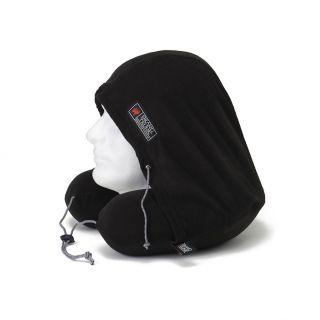 Grand Trunk Gray Hooded Memory Foam Micro fleece Travel Pillow