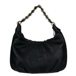 Fendi Mia Black Leather Hobo Bag