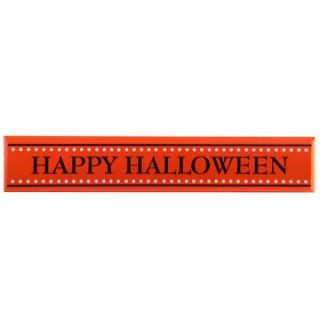 Interiors Orange Dots Halloween Block Sign