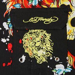 Ed Hardy Boys Skull Print Board Shorts