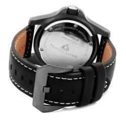 Swiss Legend Mens Conqueror Black Genuine Leather Watch